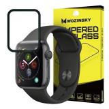 Folie Sticla Apple Watch 4 44 mm Wozinsky 5D Full Glue Neagru