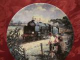 FARFURIE DECORATIVA PORTELAN  BRADEX EDITIE LIMITATA DECOR TREN CU LOCOMOTIVA