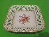 Portelan SCHWARZENHAMMER - BOL / COSULET filigranat decorat in teme florale, Decorative