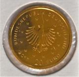 Moneda aur fin ,20 Euro 2017 Germania, Ocrotire Fauna, Europa