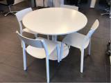 Set masa rotunda DOCKSTA cu scaune JANINGE - IKEA, Set masa si scaune, 4 scaune