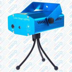 Mini proiector cu senzor de sunet Laser Stage, culori roșu și verde, trepied inclus