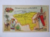 Cartonaș publicitar pastile Salmon-Alger anii 20