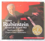 Arthur Rubinstein - Concert 20 aprilie 1963 - CD colectia DIAPASON D'OR. Nou