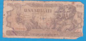 (9) BANCNOTA ROMANIA - 100 LEI 1947 (25 IUNIE 1947)