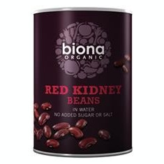 Fasole Rosie Kidney in Suc Propriu Bio Biona 400gr Cod: 5032722301320