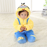 Cumpara ieftin Combinezon albastru cu galben plusat bebelusi (Marime Disponibila: 12-18 luni...