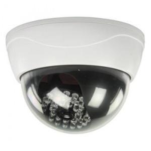 Camera de supraveghere falsa CCTV dome cu LED-uri IR