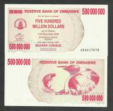 ZIMBABWE  500000000  500.000.000  DOLARI 2008 UNC  [1] P - 60 , BEARER CHEQUE