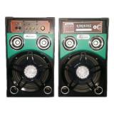 Boxe active Ailiang 198F-DT, USB, suport card SD MMC, lumini LED