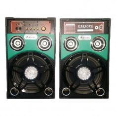 Boxe active Ailiang 198F-DT, USB, suport card SD MMC, lumini LED foto