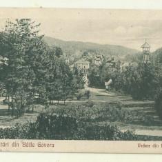 cp Govora : Vedere din Parc - circulata 1926, timbre