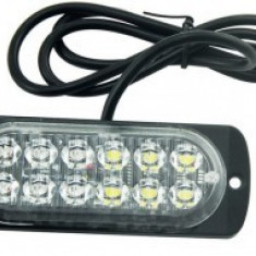 Lampa LED stroboscopica 12 LED-Galben Ravenge12