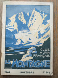 Club alpin Francais la Montagne 1932