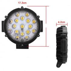 Proiector LED Auto Offroad 51W/12V-24V, 3740 Lumeni, Negru, Spot Beam 60 Grade