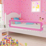 VidaXL Balustradă de protecție pat copii, roz, 180x42 cm, poliester