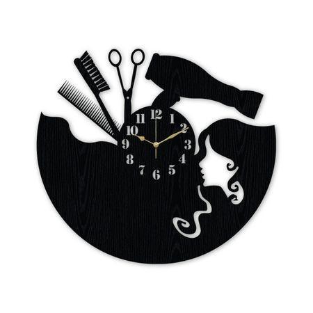 Ceas Salon Coafor din Lemn, Personalizat