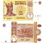 MOLDOVA 2015 1 Leu, UNC