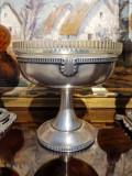Fructiera din metal argintat