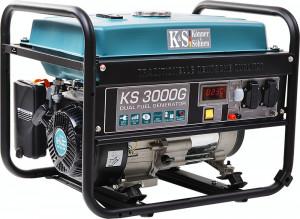 Generator curent KS 3000G Könner & Söhnen, 3.0 kW, GPL /benzina