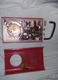 Aparat radio vechi cu ceas mecanic incorporat,radio PICMATE retro,Tran GRATUIT