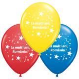Baloane inscriptionate - La multi ani, Romania!, 15 buc