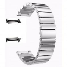 Curea metalica, adaptoare compatibile Samsung Gear Fit 2, Silver