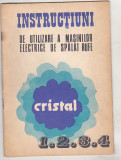 Bnk div Masina electrica de spalat Cristal - instructiuni de utilizare