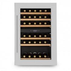 Klarstein KLARSTEIN VINSIDER 35D, frigider integrat de vin, 128 de litri, 41 de sticle de vin, 2 zone