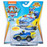 Masinuta cu figurina Paw Patrol True Metal, Chase 20127206