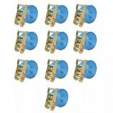 Cumpara ieftin Chingi fixare cu clichet, 10 buc, 2 tone, 6 m x 38 mm, albastru