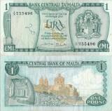 1973, 1 Lira (P-31c) - Malta