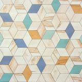 Tapet 3D Hexagone L59301