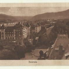 cp Calimanesti : Panorama - circulata 1930, timbre