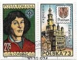 Aniversari I - Nicolaus Copernic, 1973 - cu vinieta, obliterat, Oameni, Stampilat