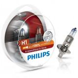 Set 2 becuri auto Philips H1 X-tremeVision G-force +130, 12V, 55W