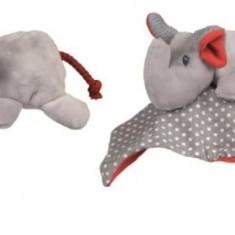 Jucarie din material textil pentru bebe elefant pop-up Egmont