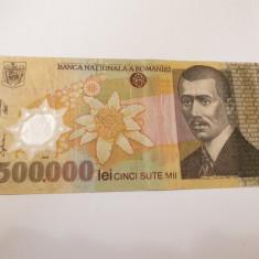 bancnota romania 500000 lei 2000 ghizari