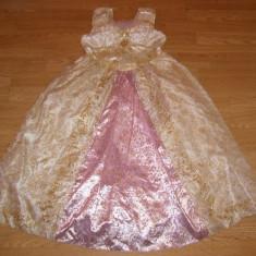 costum carnaval serbare rochie medievala regina pentru copii de 9-10 ani