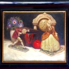 Tablou superb de pictorul Josef Silhavy Gyula (1891-1952), Natura statica, Ulei, Impresionism
