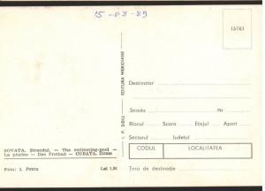 CPI B13015 CARTE POSTALA - SOVATA . STRANDUL