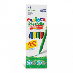 Creioane plastifiate Carioca Plastello set 6 buc