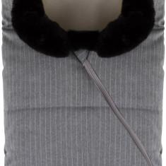Nuvita Ovetto Pop sac de iarna 80 cm Pinstripe Light Grey Beige 9235