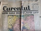 WWII -HARTA -RASPUNS ZIARULUI BUDAPESTAN -EXTRAS DIN ZIARUL CURENTUL 30 AUG 1940