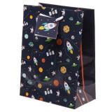 Punga medie pentru cadouri - Rocket and Planet | Puckator
