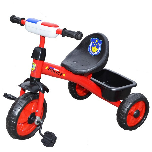 Tricicleta cu pedale muzica si lumina - Politie