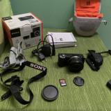 Camera Sony Alpha A5000 Full, card 16gb, accesorii, geanta.