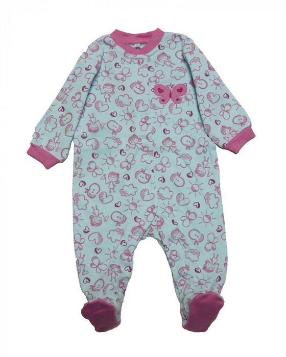 Salopeta / Pijama bebe cu desene Z34