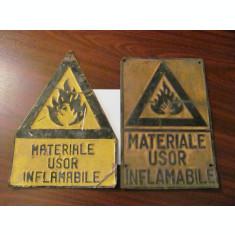 "GE - Lot 2 table vechi vopsite ambutisate ""Materiale Usor Inflamabile"""