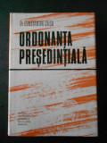 CONSTANTIN CRISU - ORDONANTA PRESEDINTIALA